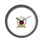 SOUCIE Family Crest Wall Clock