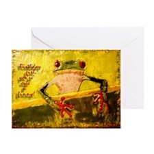 Birthday Frog ~ Single Card