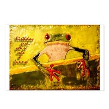 Birthday Frog (Box of 8 Postcards)