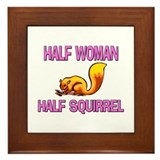 Half Woman Half Squirrel Framed Tile