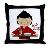 Miso Cute Throw Pillow