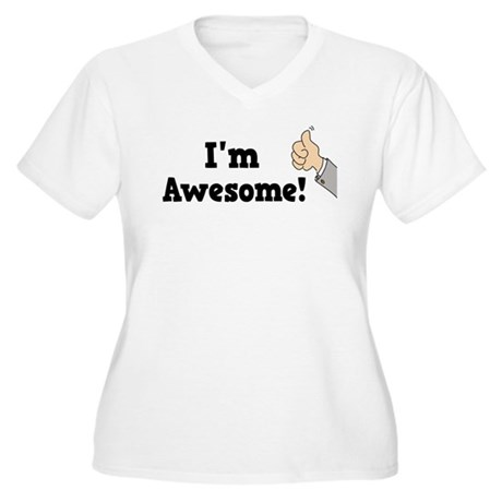 I'm Awesome Women's Plus Size V-Neck T-Shirt