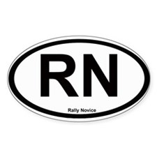 Rally Novice Oval Sticker (10 pk)