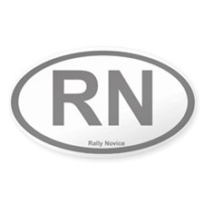 Rally Novice Oval Decal