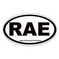 Rally Advanced Excellent: Oval Decal