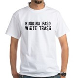 Burkina Faso White Trash Shirt