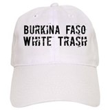 Burkina Faso White Trash Baseball Cap