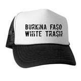 Burkina Faso White Trash Hat