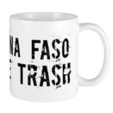 Burkina Faso White Trash Mug
