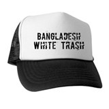 Bangladesh White Trash Trucker Hat