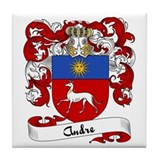 Andre Family Crest Tile Coaster
