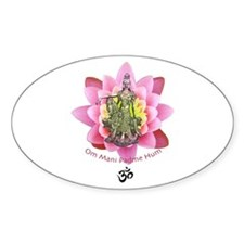 Kuan Yin Mantra Oval Decal