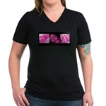 teething ring Women's V-Neck Dark T-Shirt