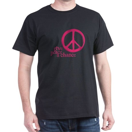 Give Peace a Chance - Pink Men's Dark T-Shirt