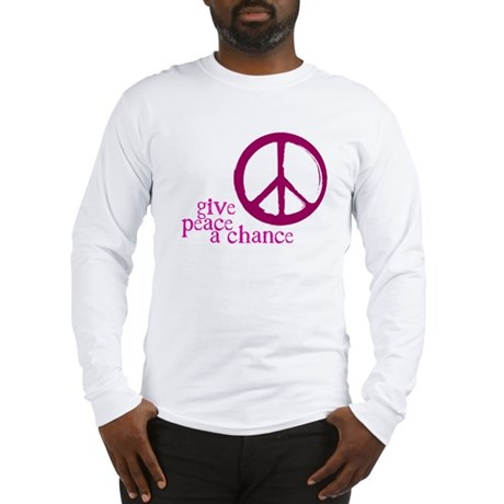 Give Peace a Chance - Pink Men's Long Sleeve T-Shirt
