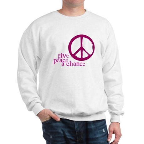 Give Peace a Chance - Pink Men's Sweatshirt
