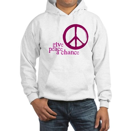 Give Peace a Chance - Pink Men's Hooded Sweatshirt