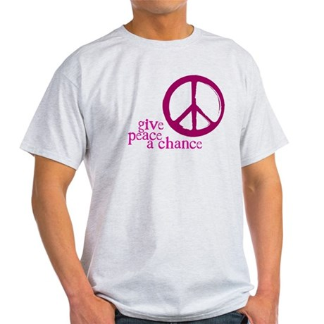 Give Peace a Chance - Pink Men's Light T-Shirt