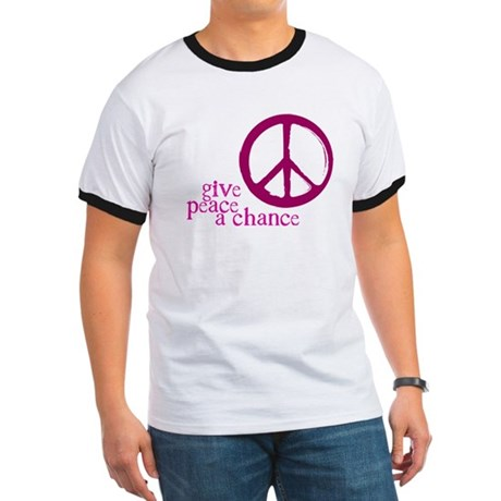 Give Peace a Chance - Pink Men's Ringer Tee
