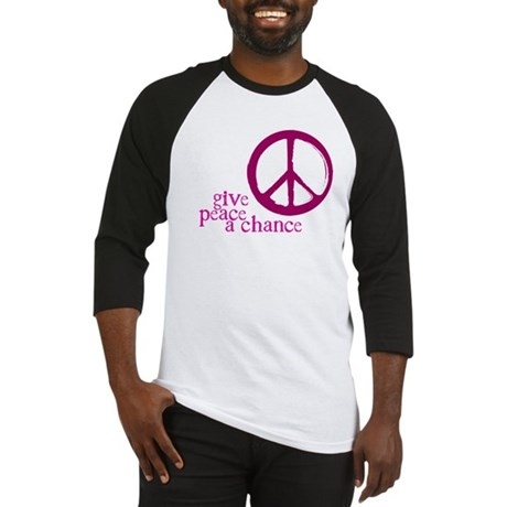 Give Peace a Chance - Pink Men's Baseball Jersey