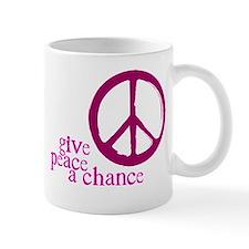 Give Peace a Chance - Pink Small Mugs