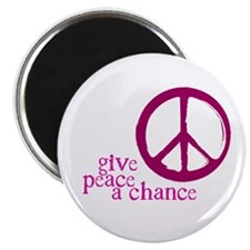 Give Peace a Chance - Pink Magnet