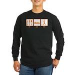 Eat Sleep Yoga Long Sleeve Dark T-Shirt