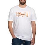Eat Sleep Yoga Fitted T-Shirt