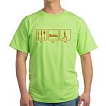 Eat Sleep Yoga Green T-Shirt