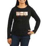 Eat Sleep Yoga Women's Long Sleeve Dark T-Shirt
