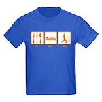 Eat Sleep Yoga Kids Dark T-Shirt