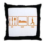 Eat Sleep Yoga Throw Pillow
