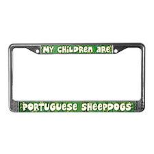Children Portuguese Sheepdog License Plate Frame