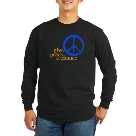 Give Peace a Chance - Blue & Orange Long Sleeve Da