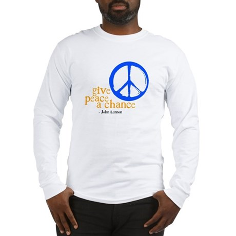 Give Peace a Chance - Blue & Orange Long Sleeve T-