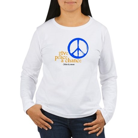 Give Peace a Chance - Blue & Orange Women's Long S