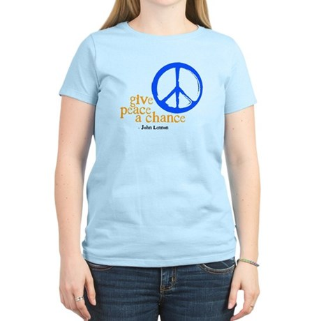 Give Peace a Chance - Blue & Orange Women's Li
