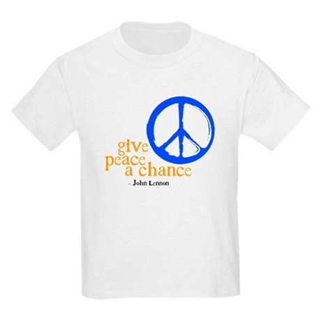 Give Peace a Chance - Blue & Orange Kids Light T-S