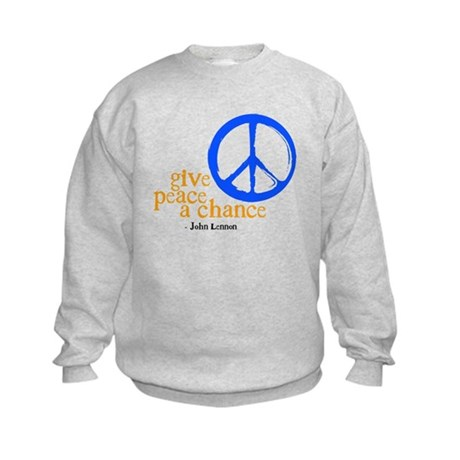 Give Peace a Chance - Blue & Orange Kids Sweatshir