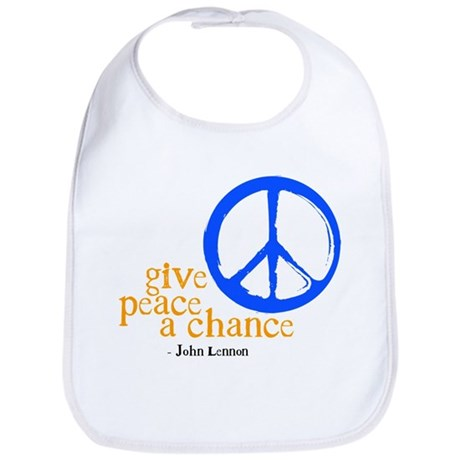 Give Peace a Chance - Blue & Orange Bib