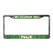 My Children Puli License Plate Frame