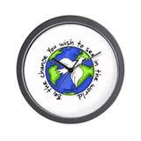 World Peace - Gandhi - Be Change Wall Clock
