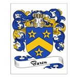 Baron Family Crest Small Poster