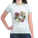 Falling Leaves Jr. Ringer T-Shirt
