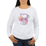 Poyang China Map Women's Long Sleeve T-Shirt