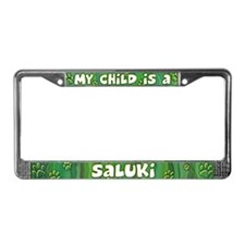 My Kid Saluki License Plate Frame