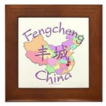 Fengcheng China Map Framed Tile