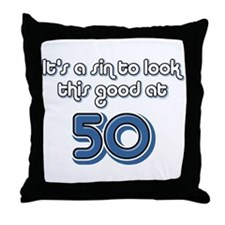 Sinful 50th Birthday Throw Pillow