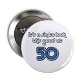 Sinful 50th Birthday 2.25&quot; Button