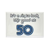 Sinful 50th Birthday Rectangle Magnet